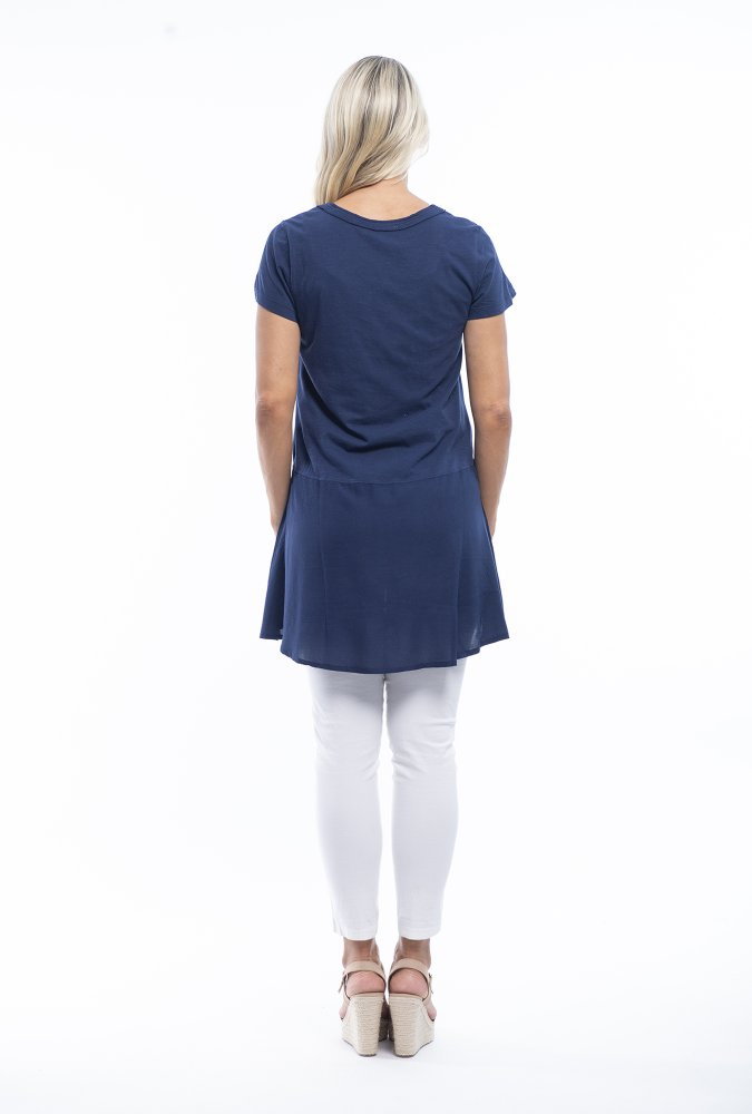 Claire Tunic in Navy