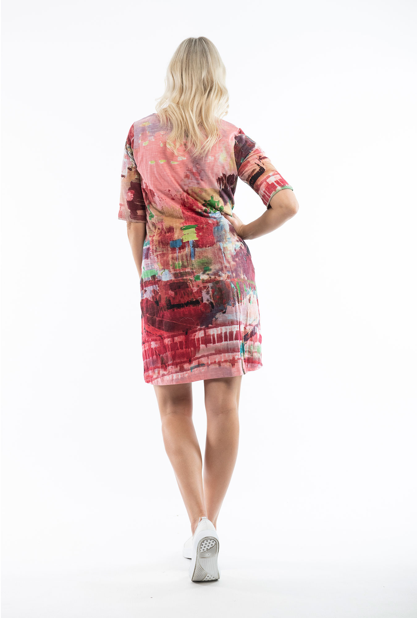 Traffic Red Contemporary Dress