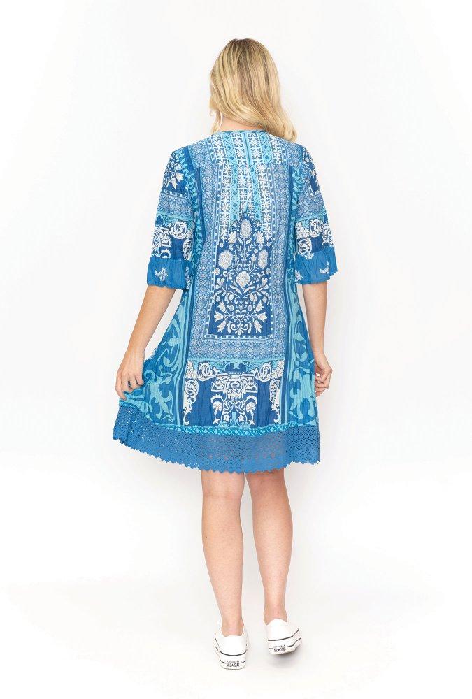 Julia Dress Blue
