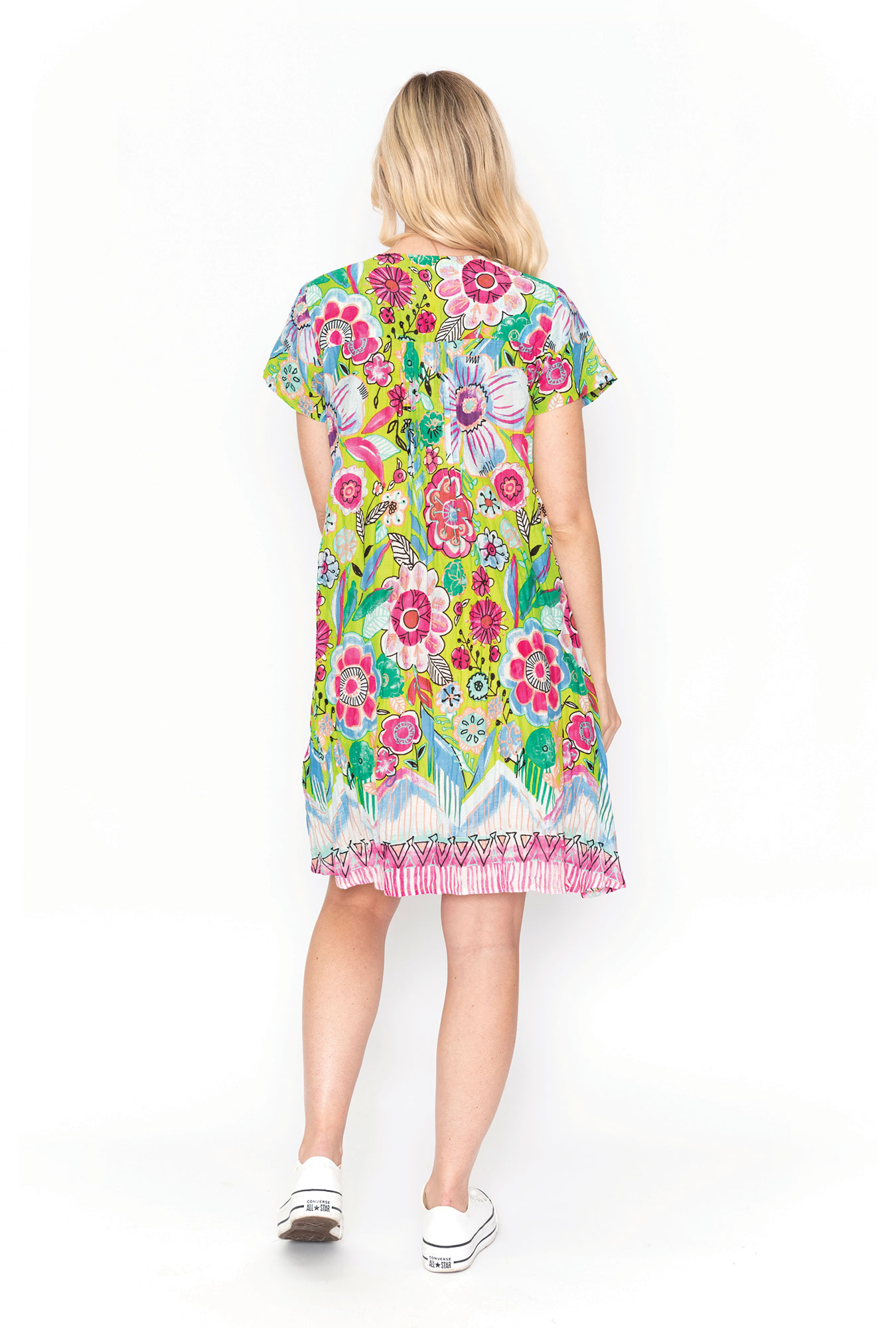Marla Dress in Lime Floral