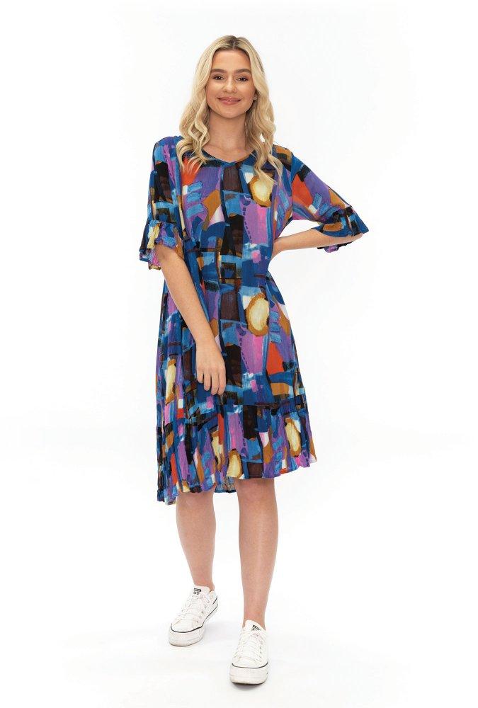 Stephy Dress in Purple print