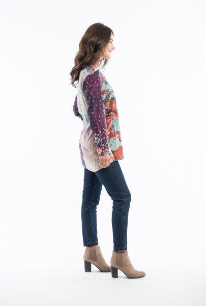 Warm Floral Digital Tunic