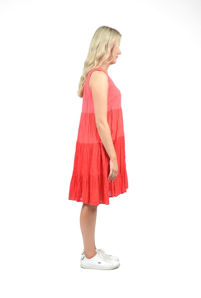 Stella Ombre Dress in Red