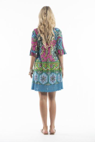 Julia Dress in Gem Mosaic