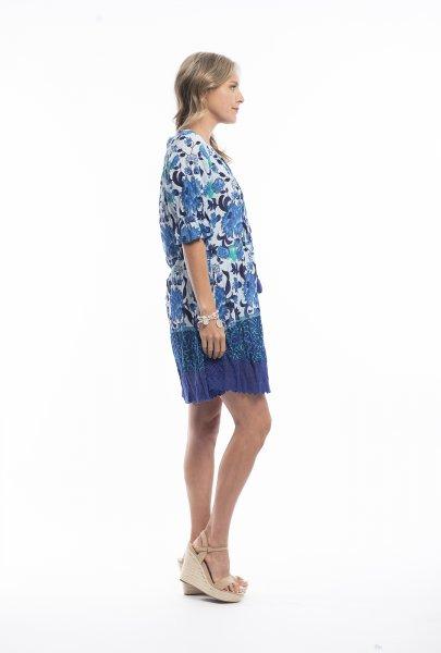 Julia Dress in Blue Paisley