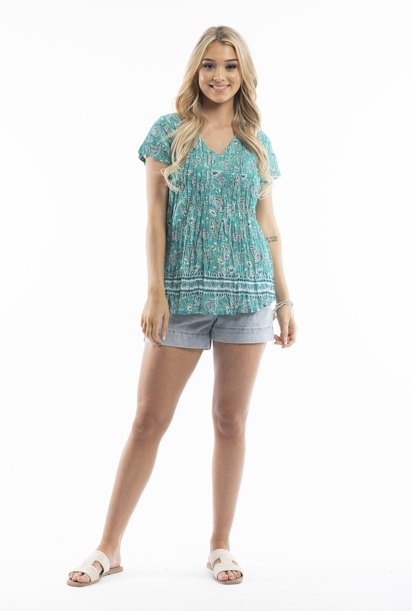 Maggie Top in Teal