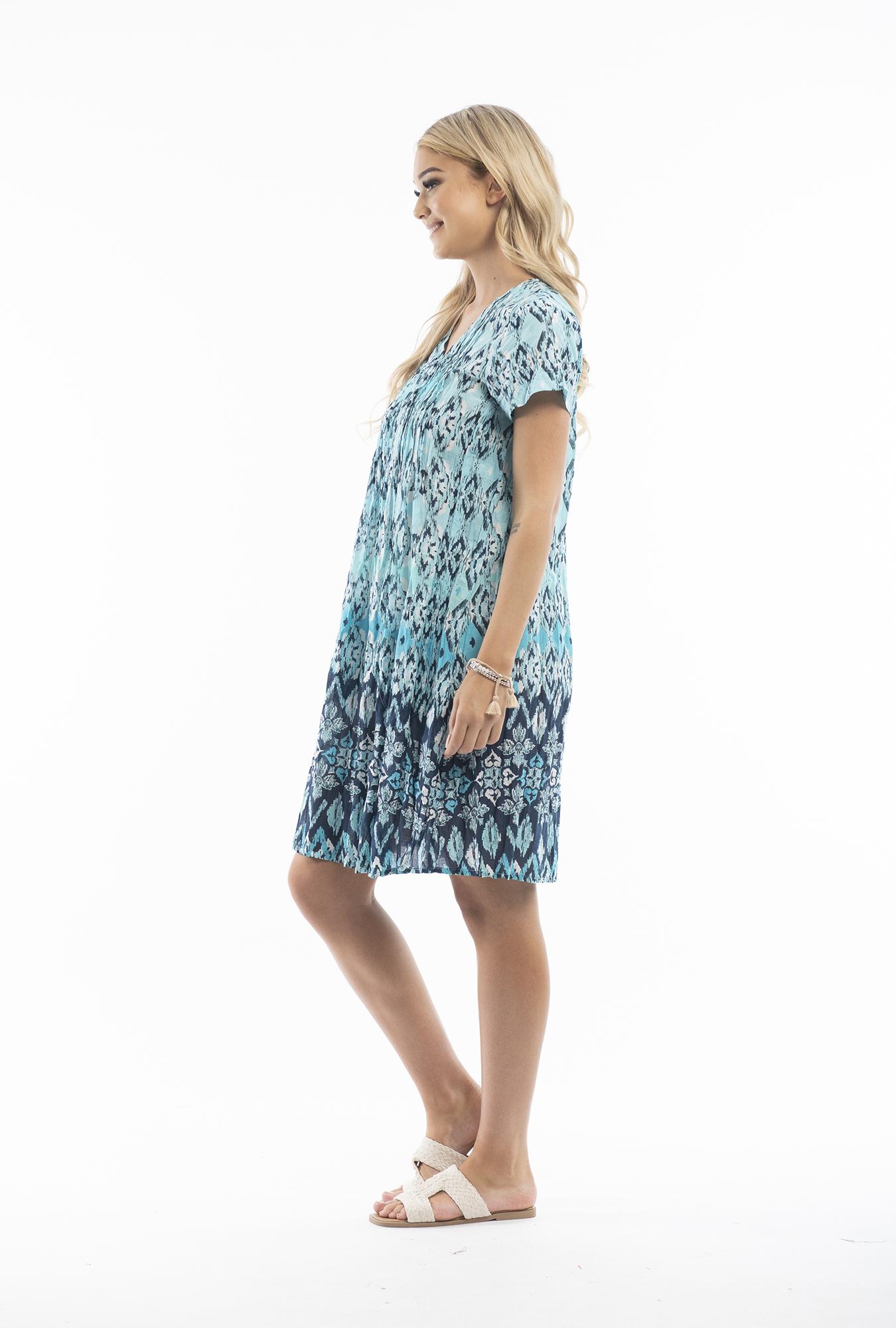 Marla Dress in Light Blue