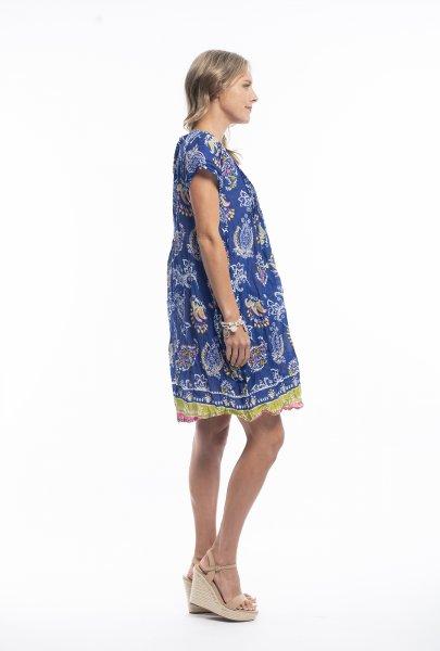 Marla Dress in Blue Paisley