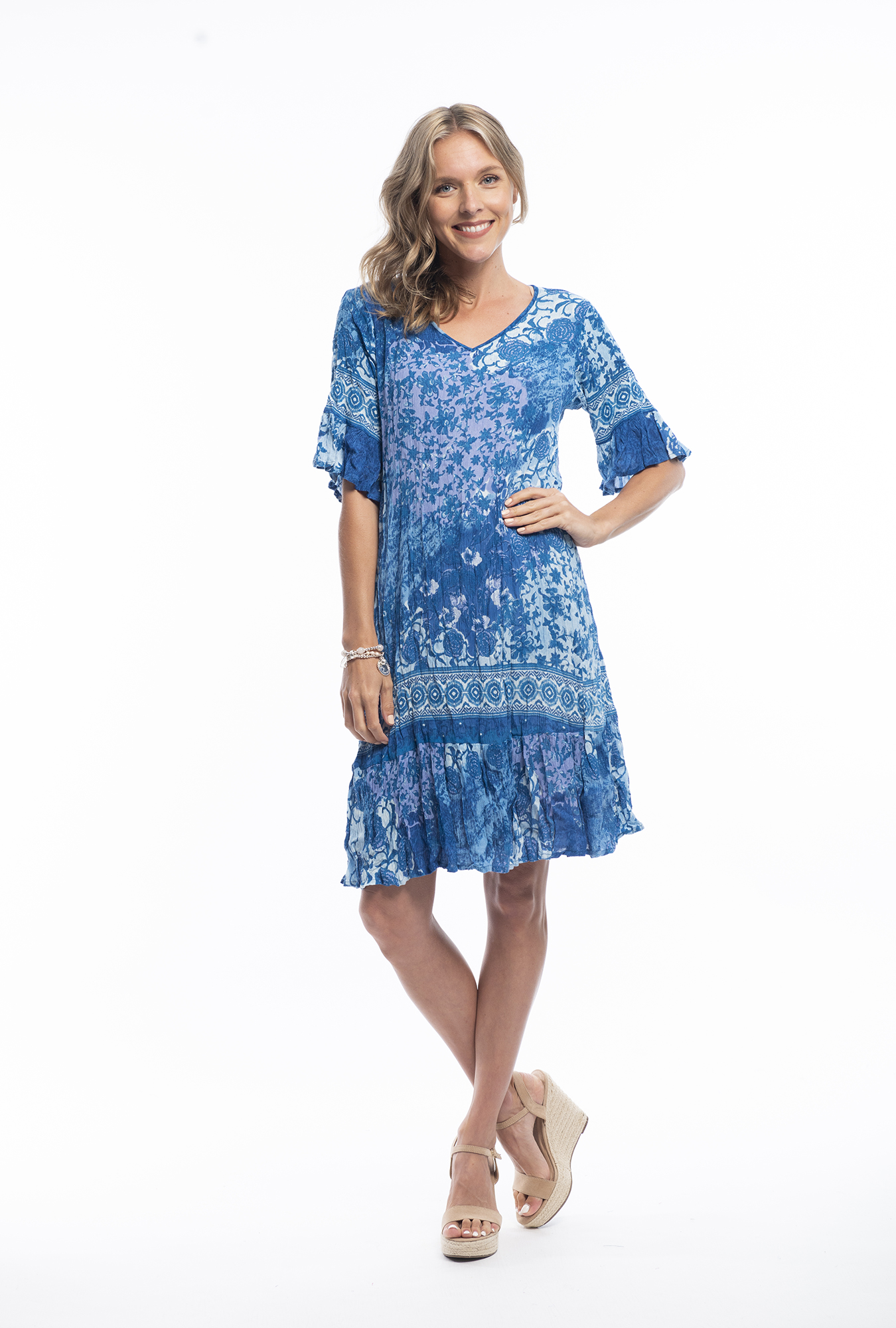 Stephy Dress in Turquoise