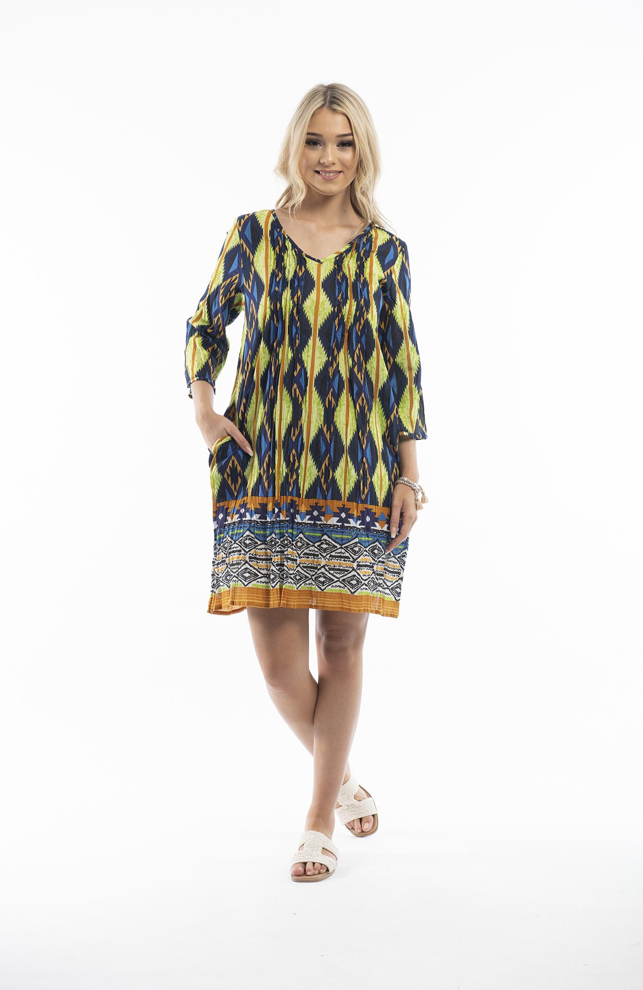 Carmen Dress in Aztec