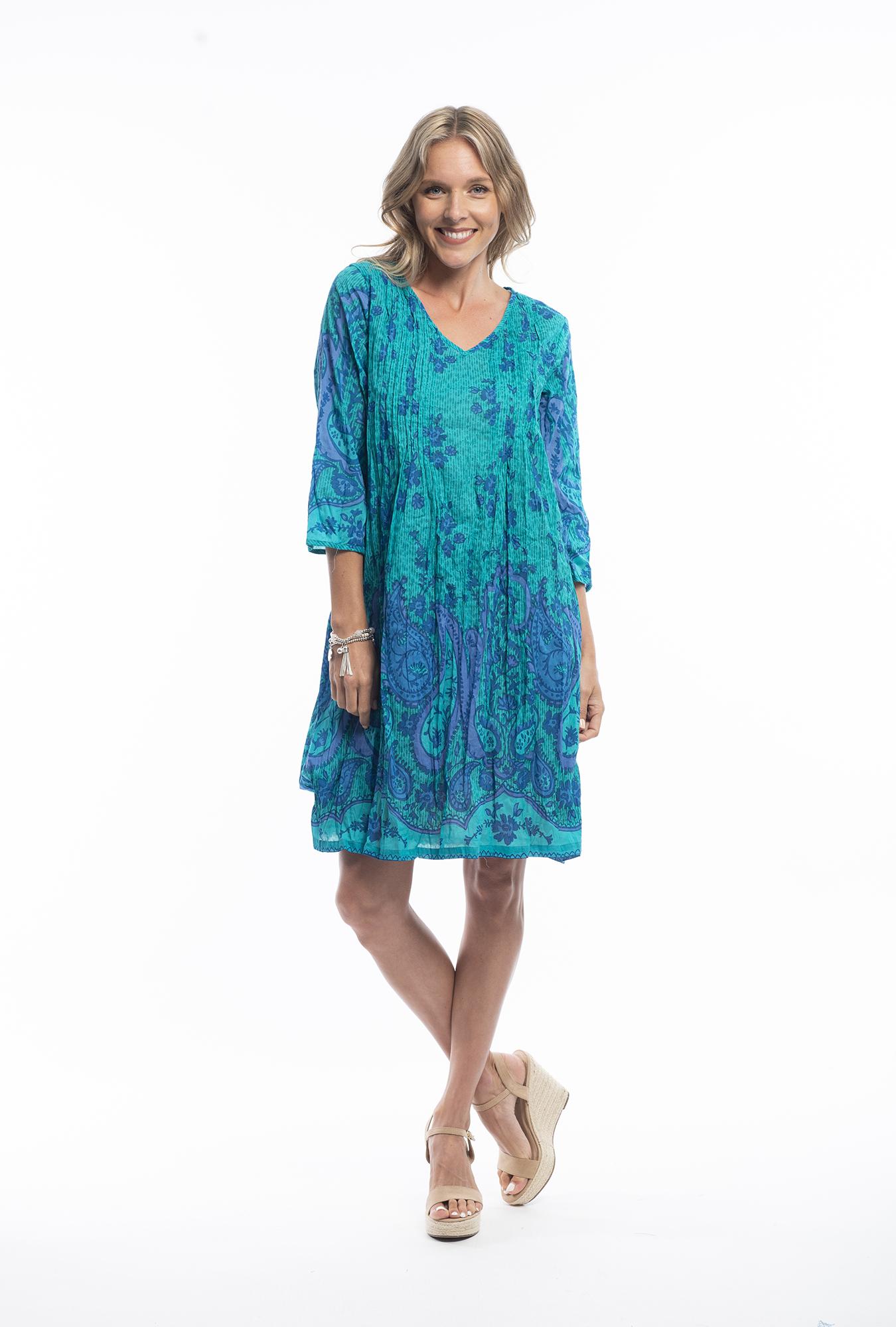Carmen Dress in Aquamarine