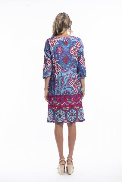 Carmen Dress in Floral Blue