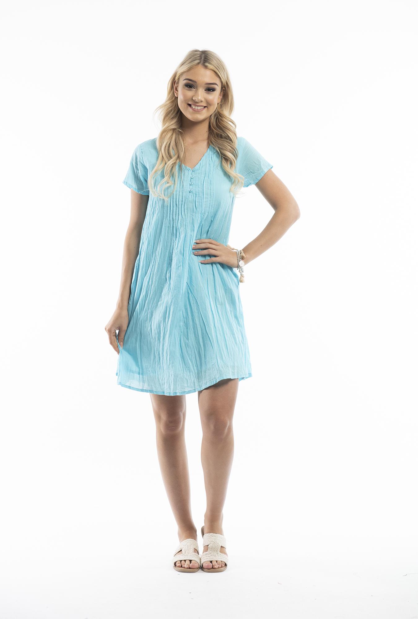 Tessa Dress in Aqua