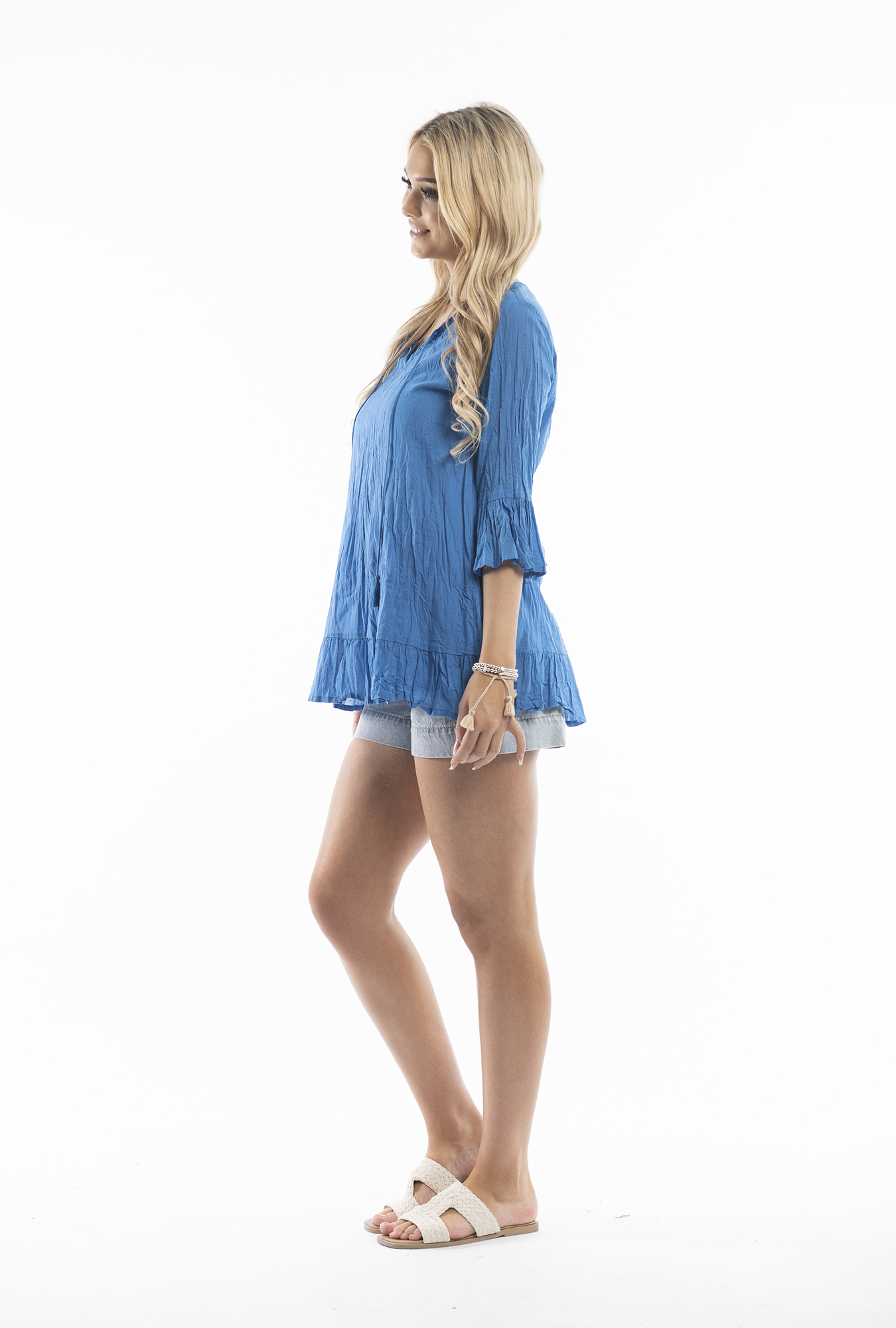 Xanthe Tunic in Blue