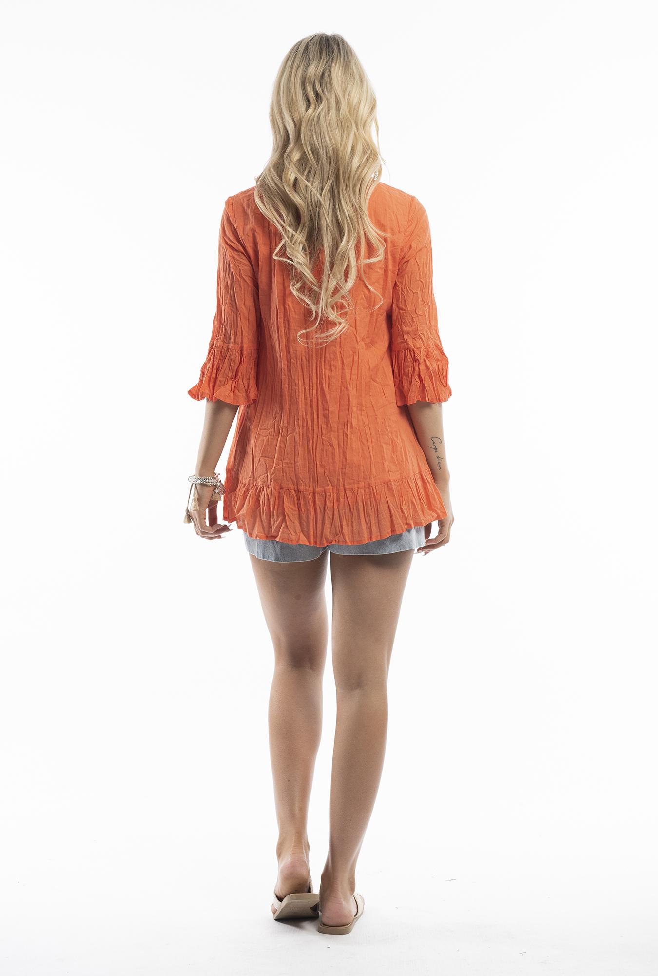 Xanthe Tunic in Orange