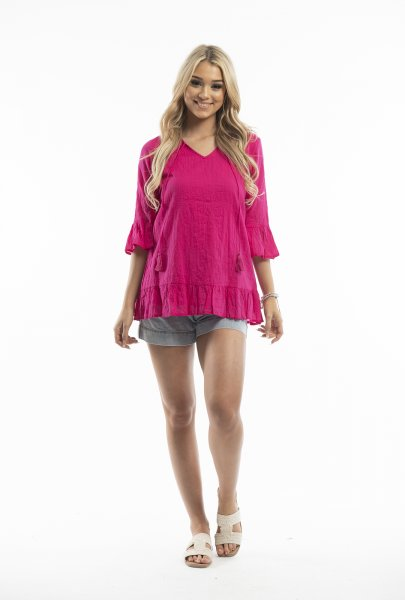 Xanthe Tunic in Pink