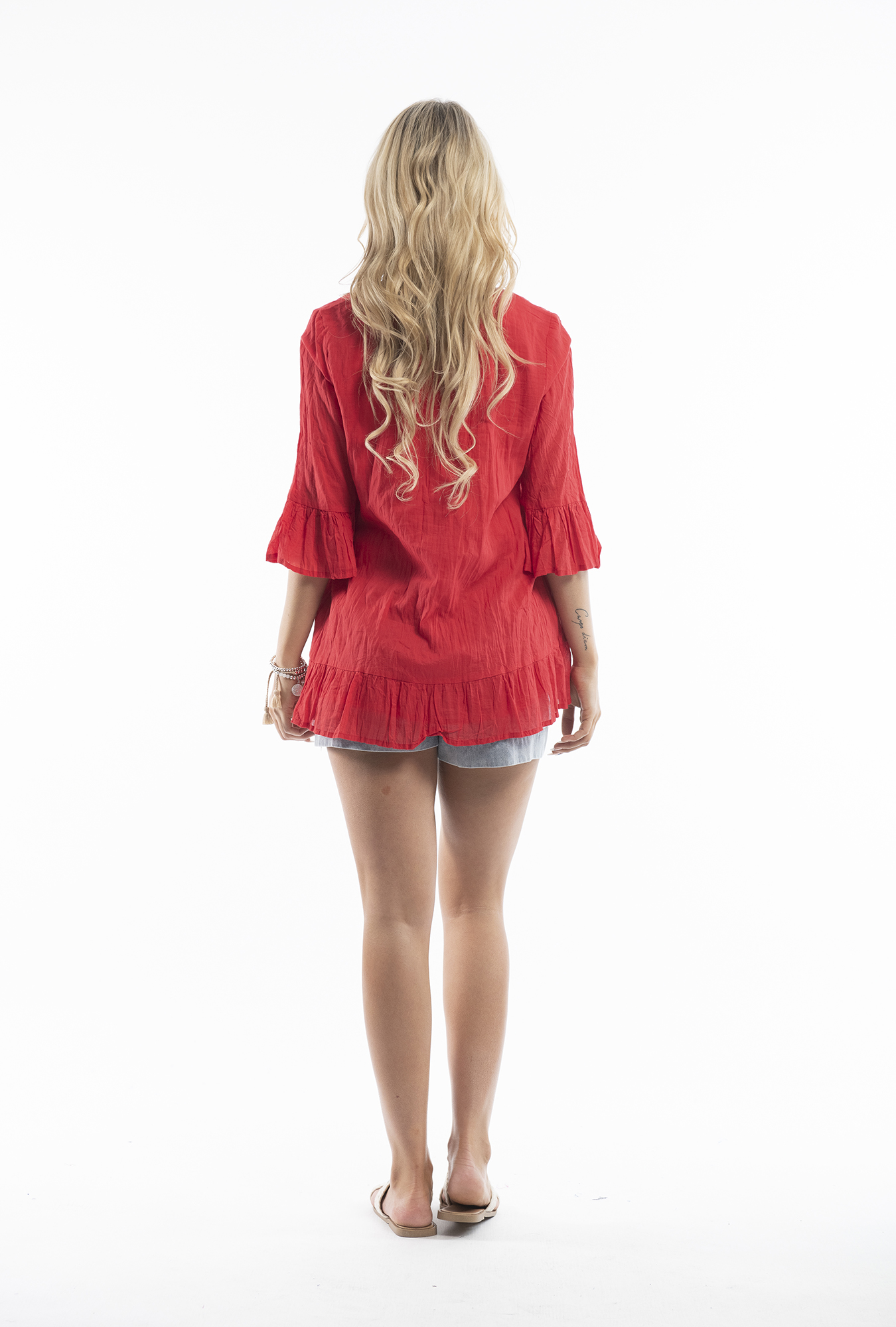 Xanthe Tunic in Red