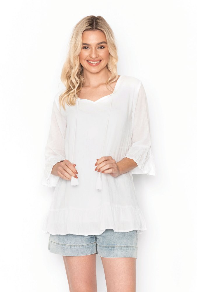 Xanthe Tunic in White