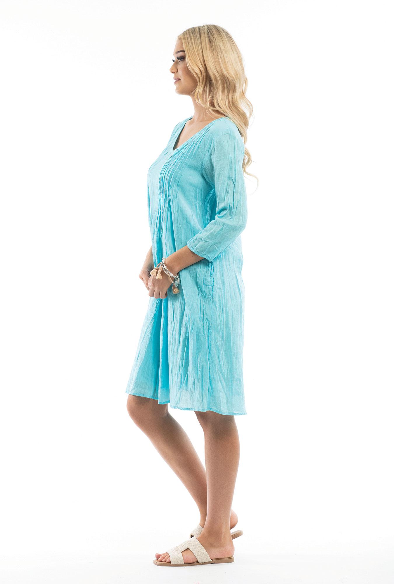 Leyla Dress in Aqua