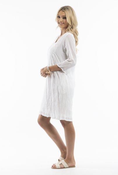 Leyla Dress in White