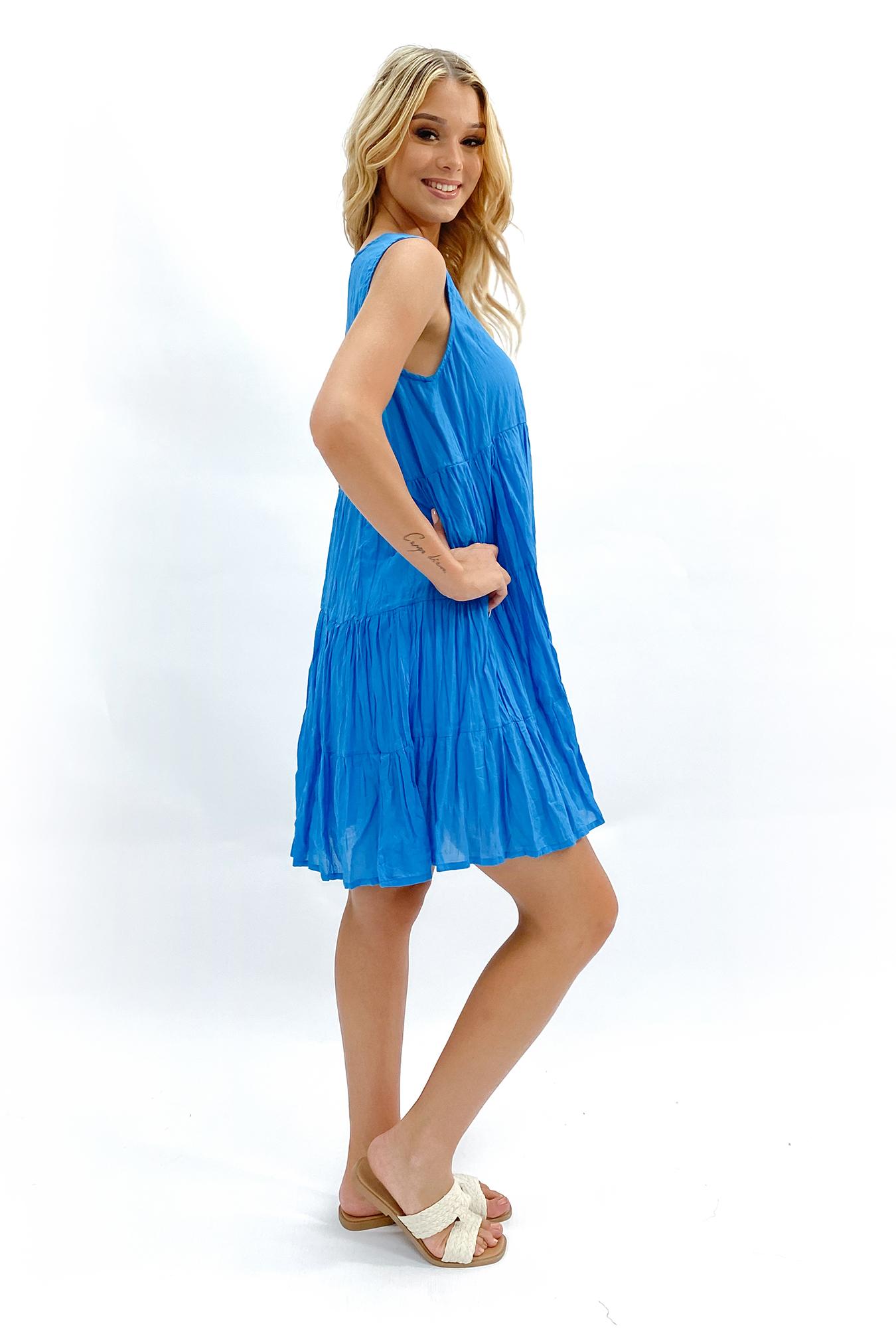 Bailey Dress in Blue