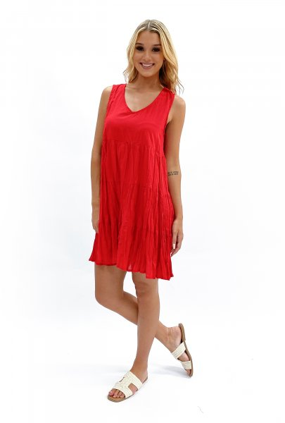 Bailey Dress in Red
