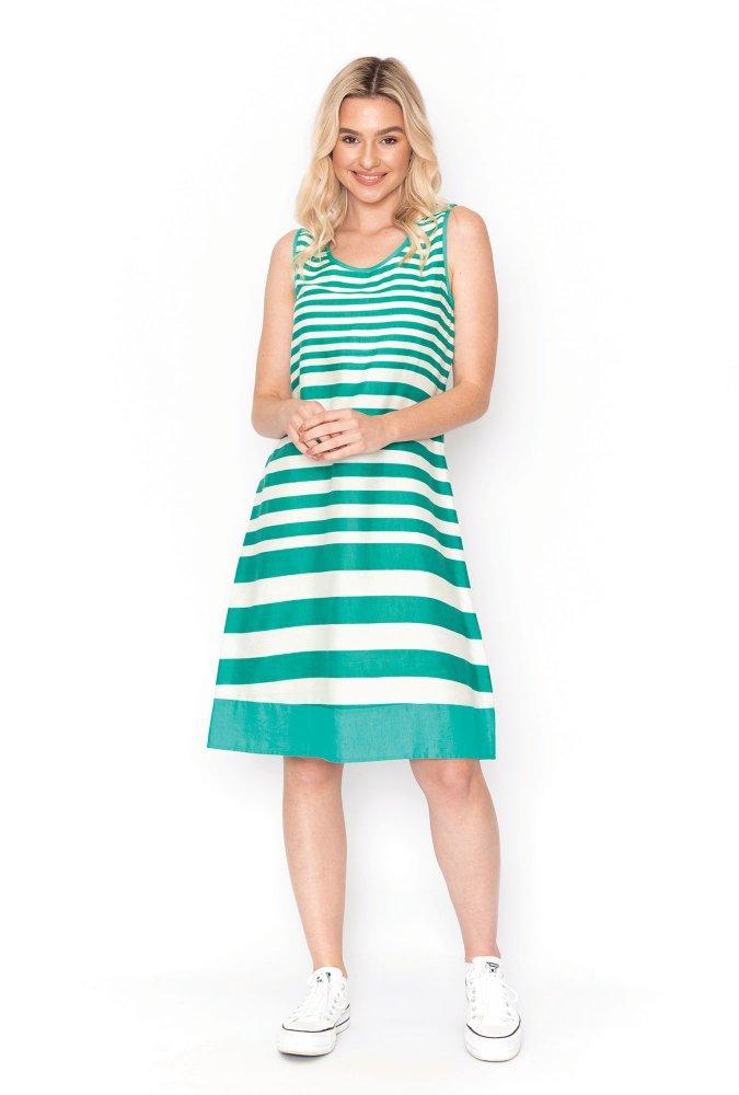Jane Swing Dress in Jade
