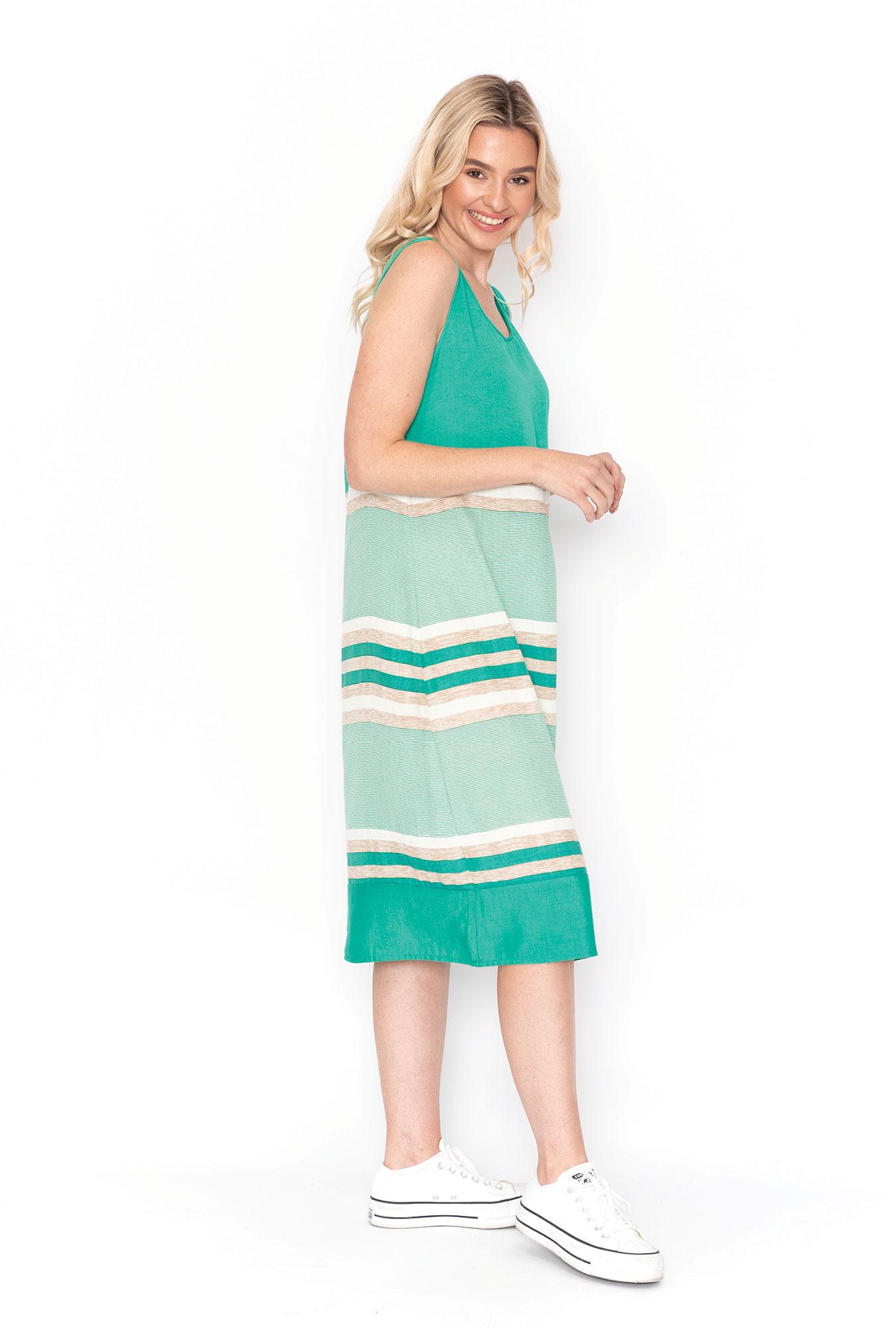 Kate Swing Dress  in Jade