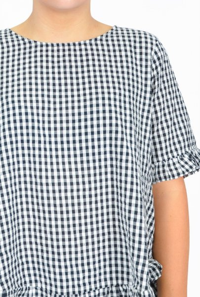 Penny Top in Black Small Gingham