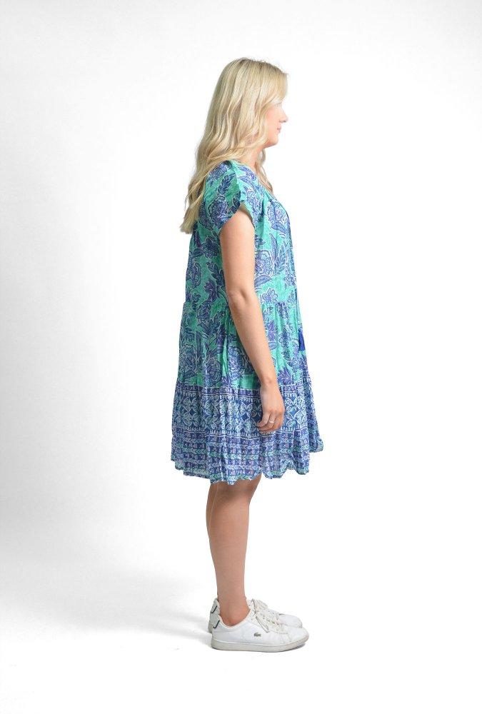 Nora Dress in Blue Jasmine