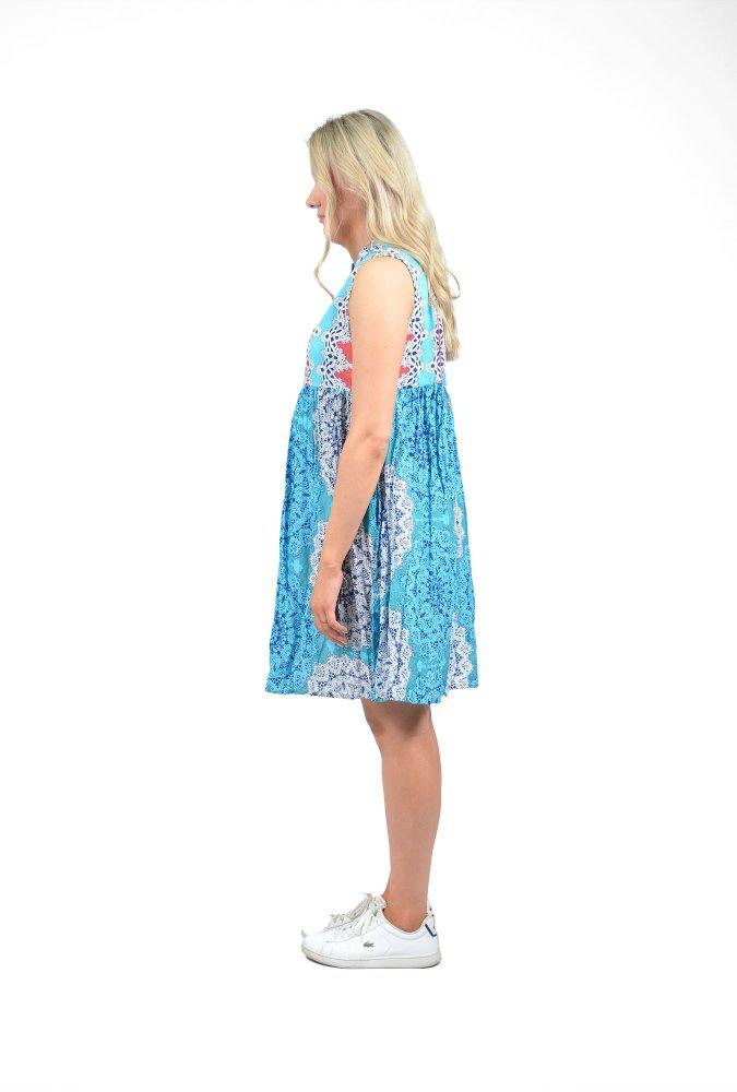 Alana Dress in Mandala Aqua