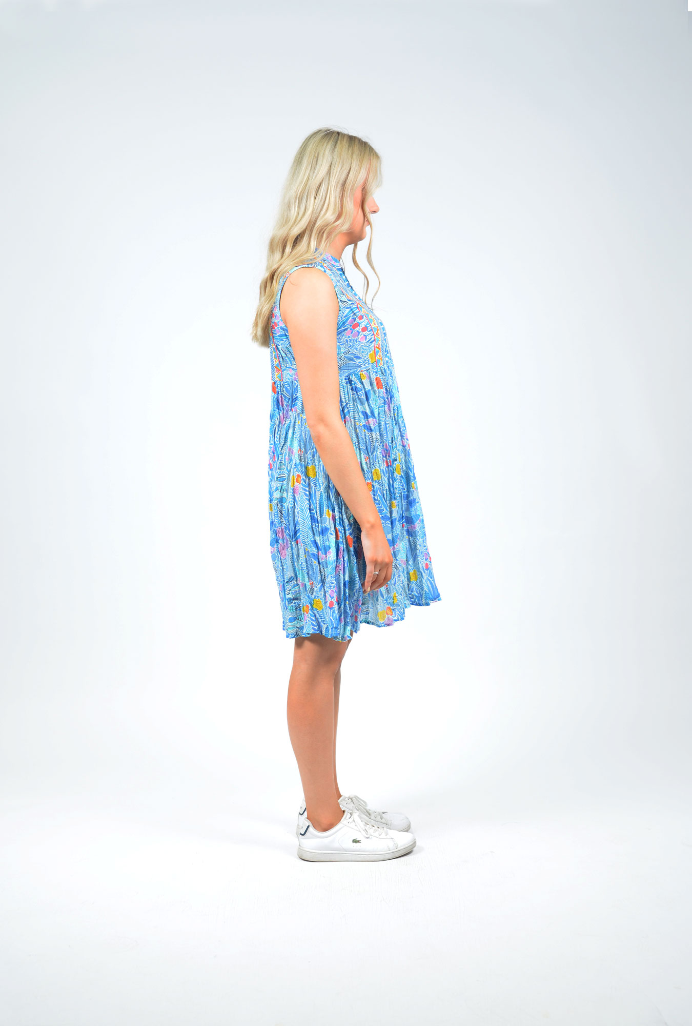 Alana Dress in Floral Blue