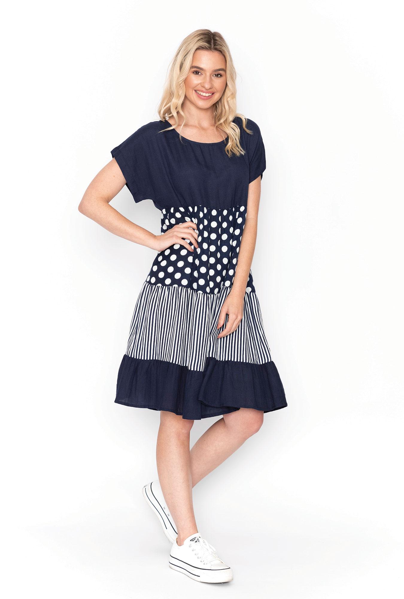 Rachel Dress in Navy