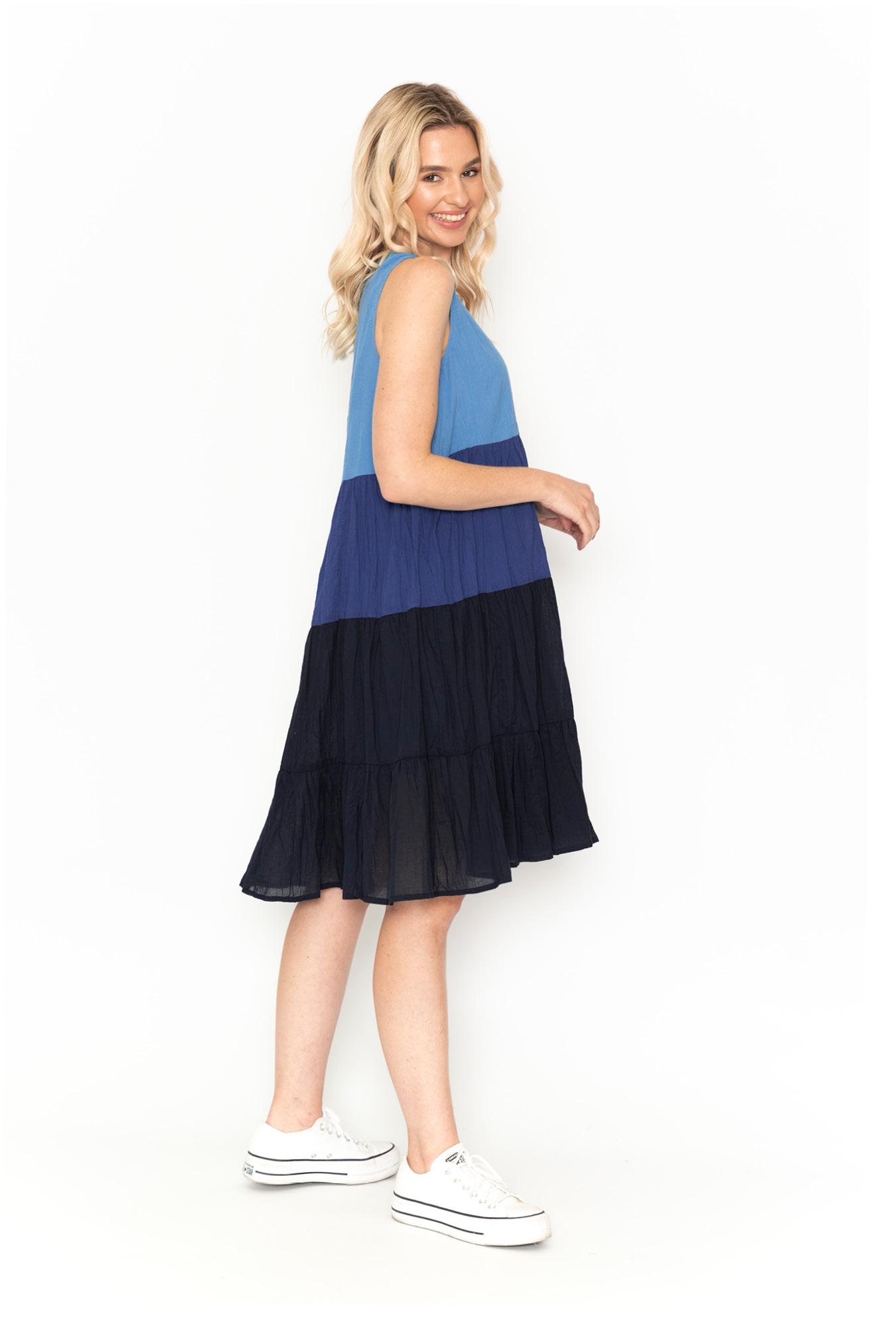 Stella Ombre Dress in Navy