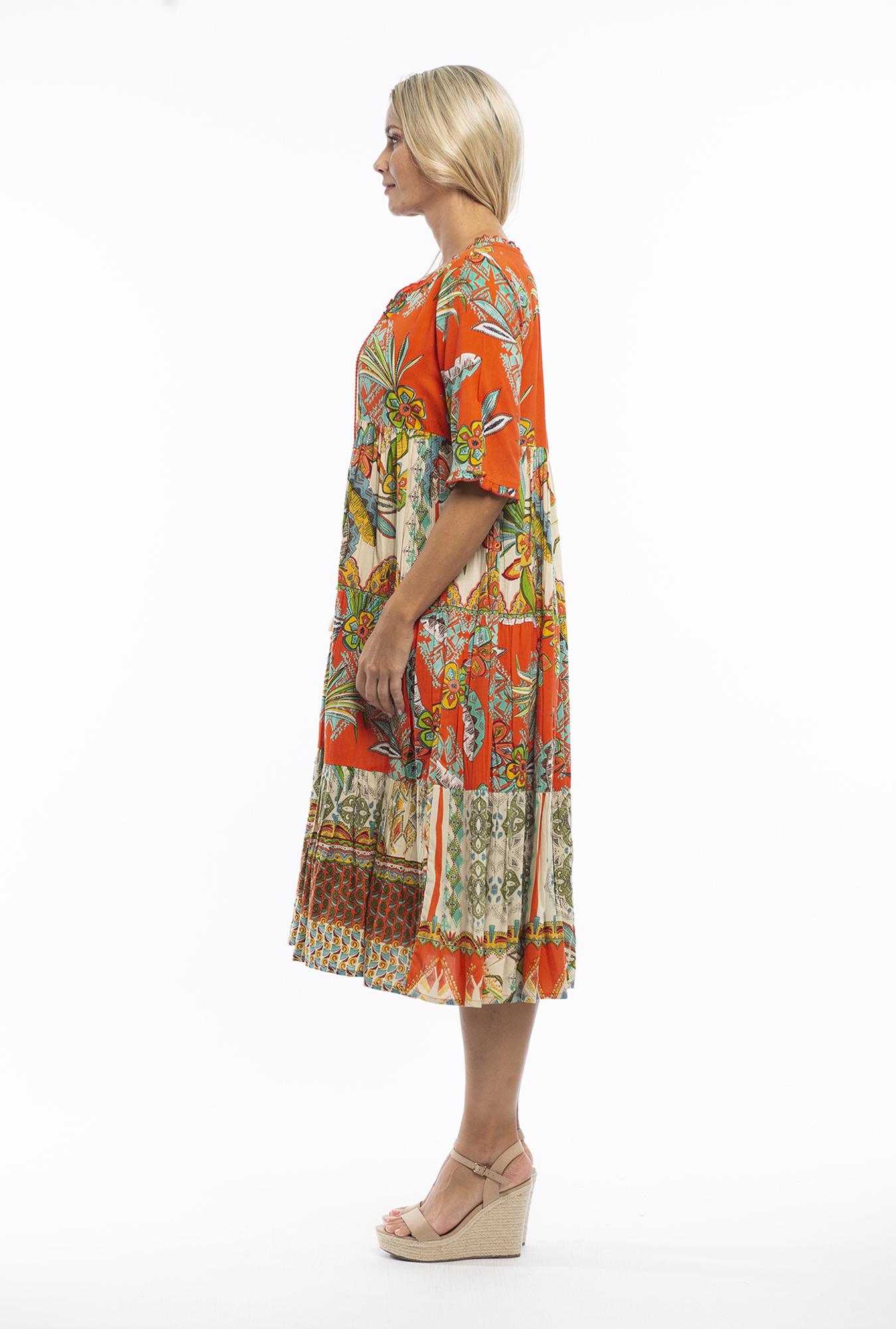 Elena Dress in Pampelone