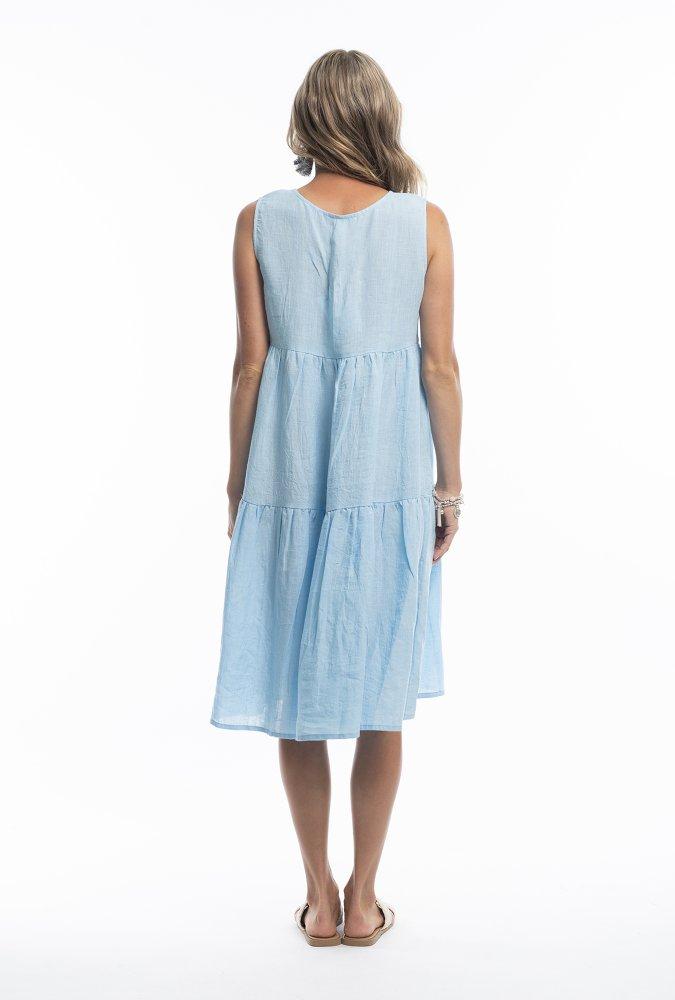 Ellen Midi Dress in Blue