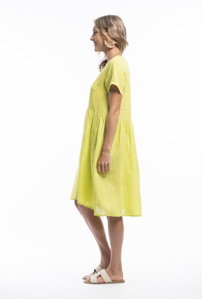 Helena Dress in Lime