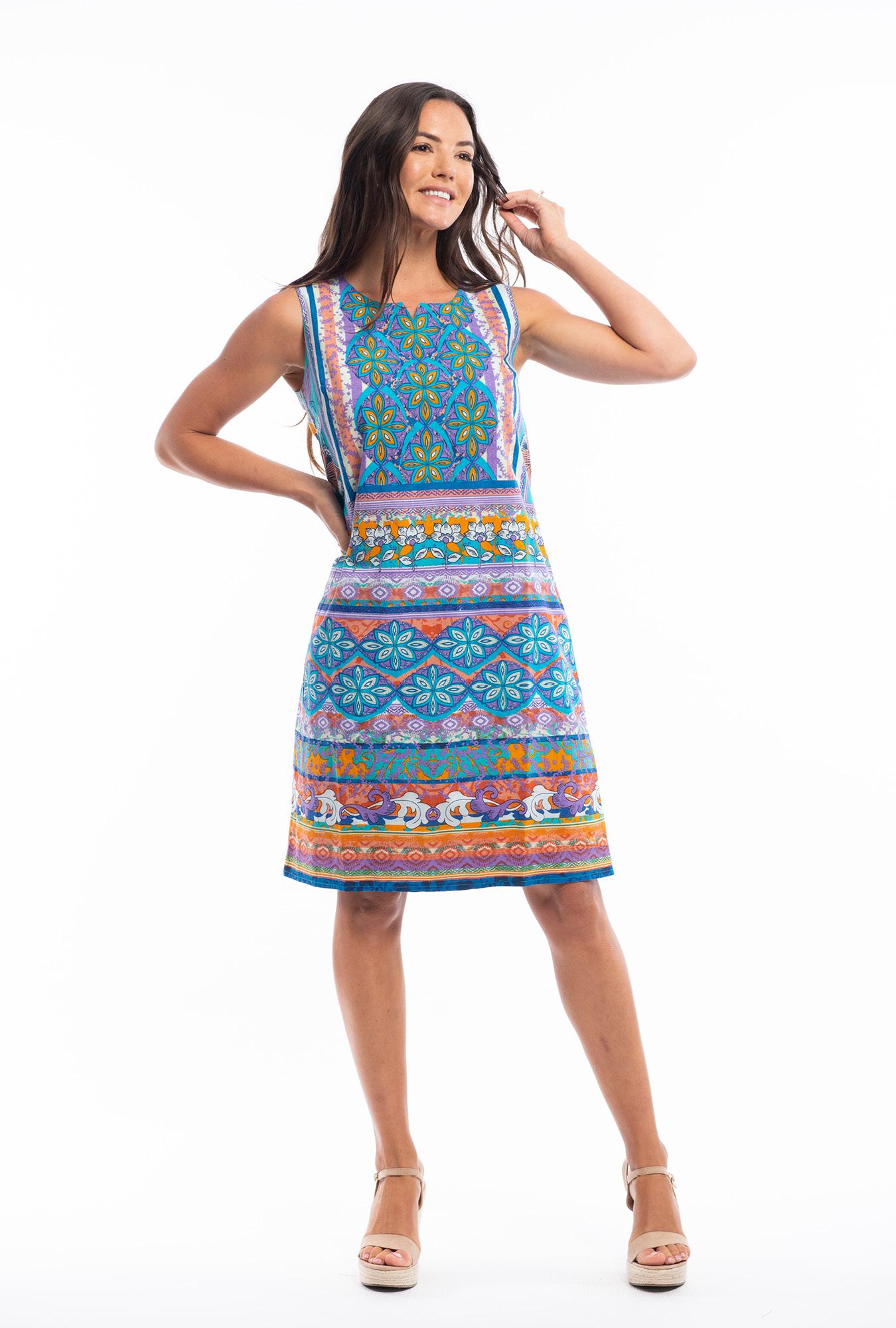 Izzi Reversible Dress in St Tropez Blue