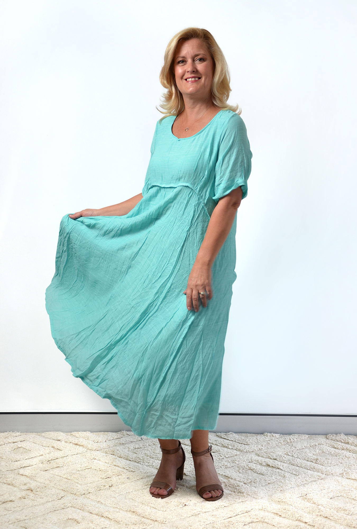 Una dress in Turquoise