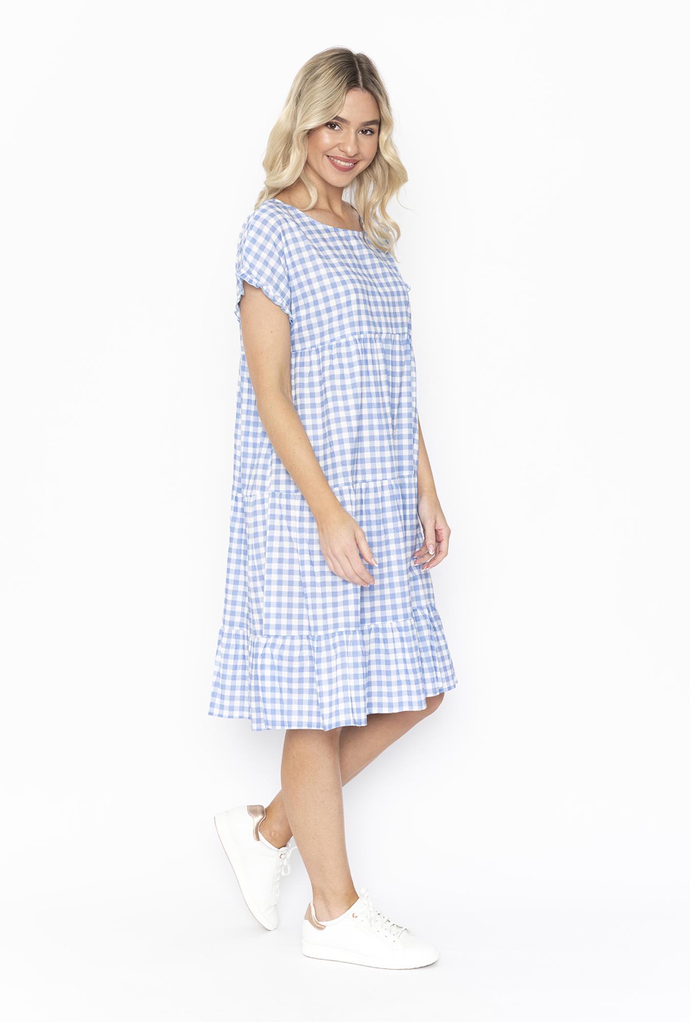 Lottie Dress in Baby Blue Gingham