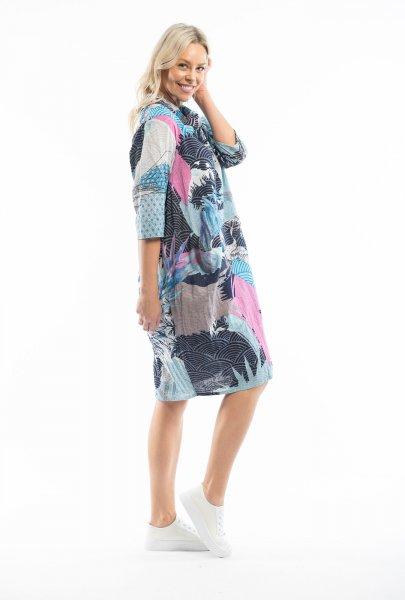 Lourdes Blue Cowel Dress