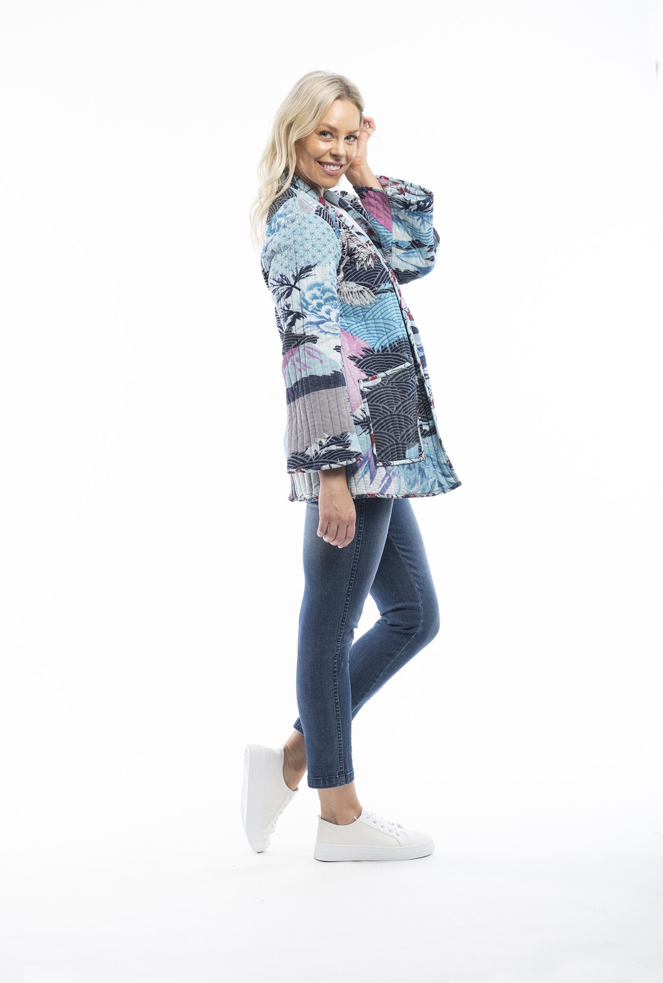 Lourdes Blue Reversible Kimono