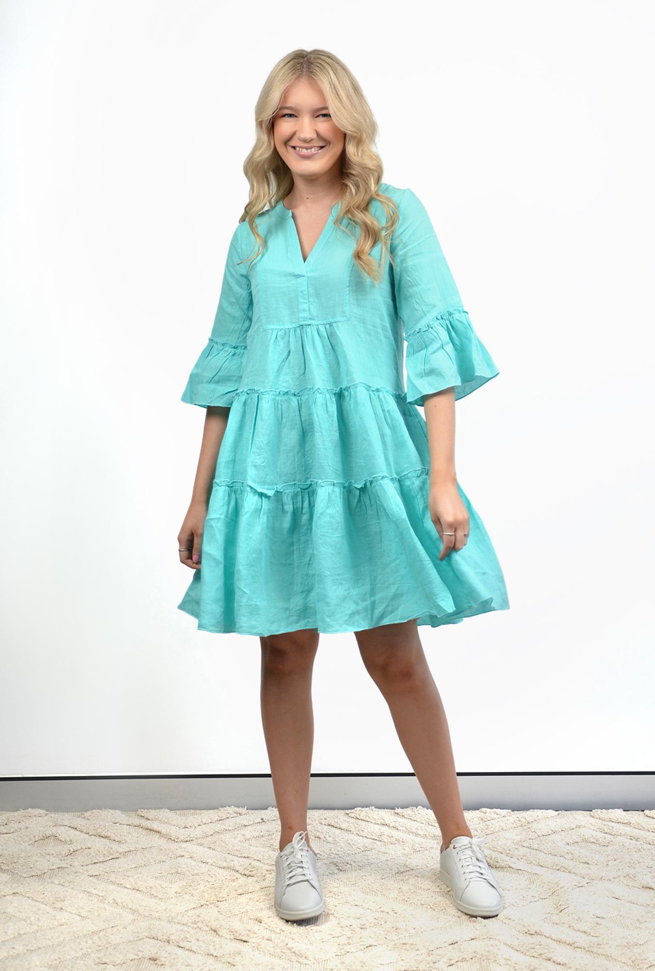 Margo Dress in Aqua