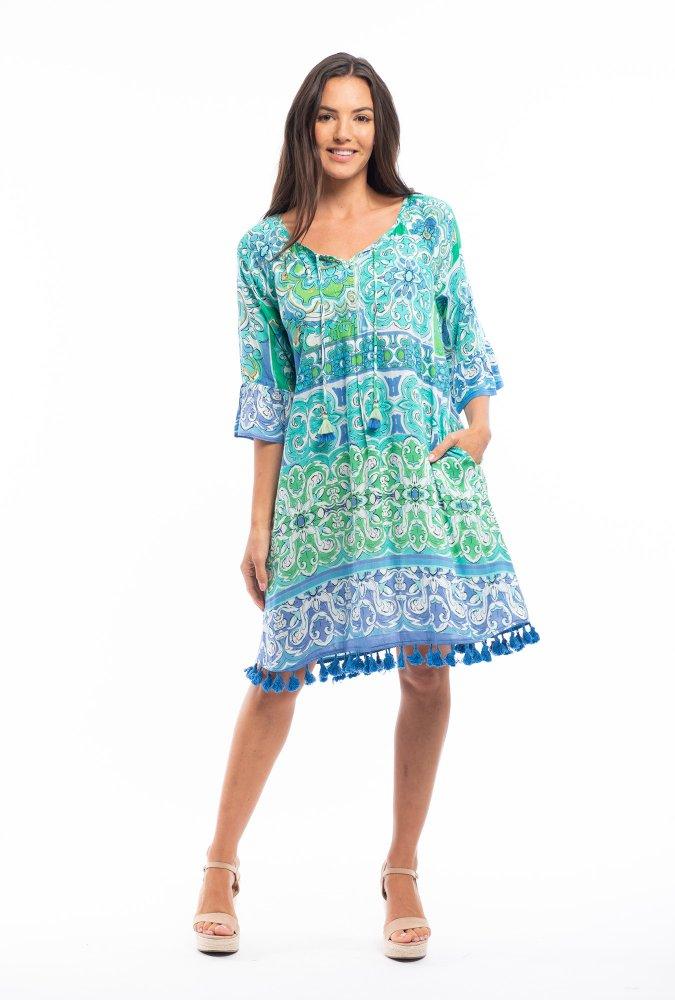 Marie Dress in Mauresque Green