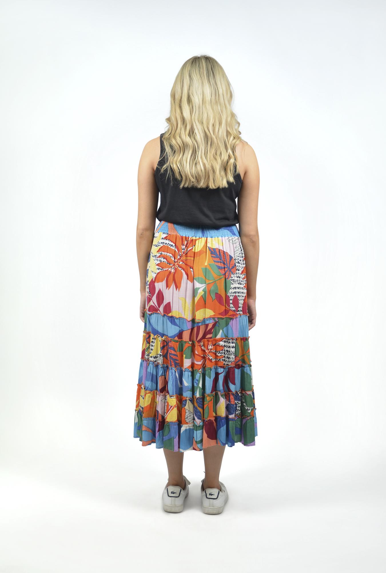 Georgia Maxi Skirt in Barbeyrolles