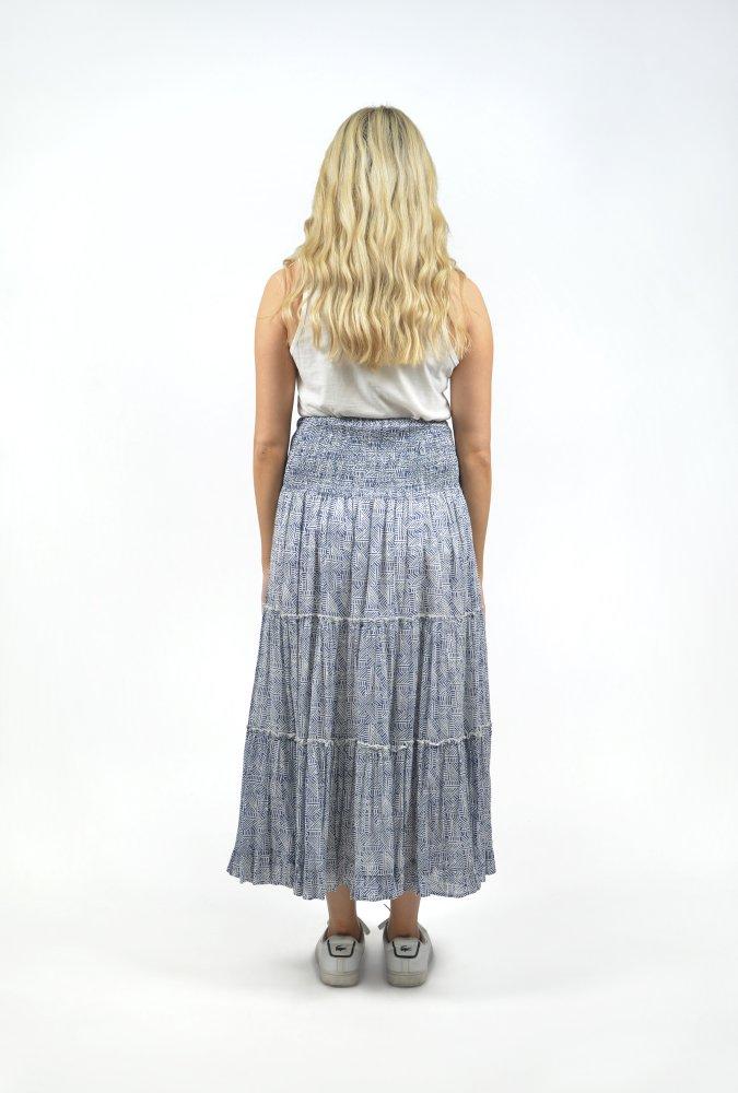 Georgia Maxi Skirt in Mono Navy