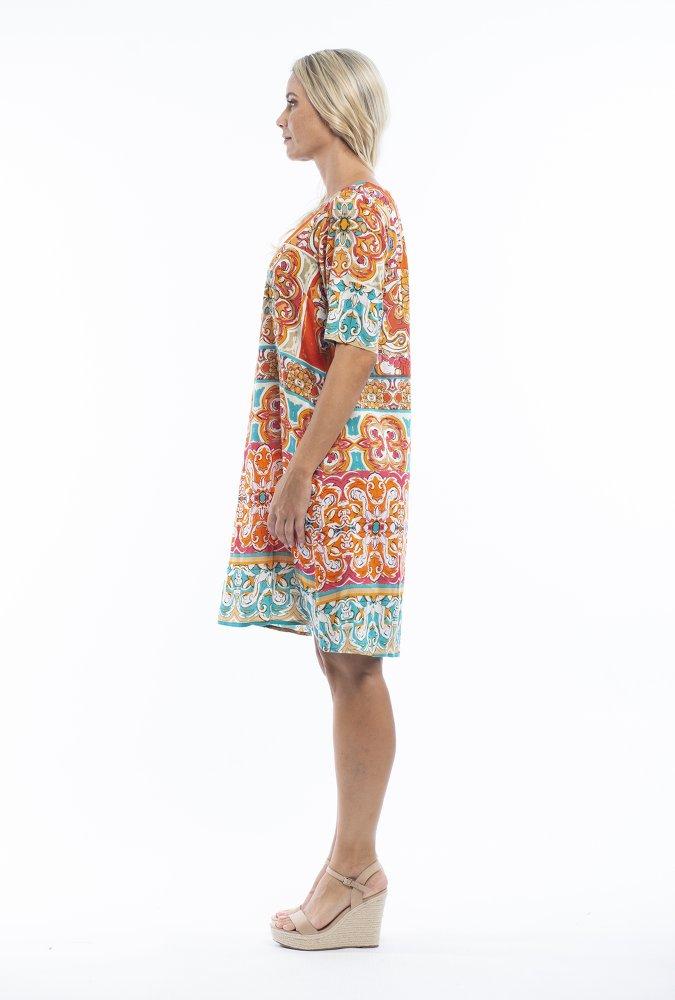 Nya Dress in Mauresque Orange