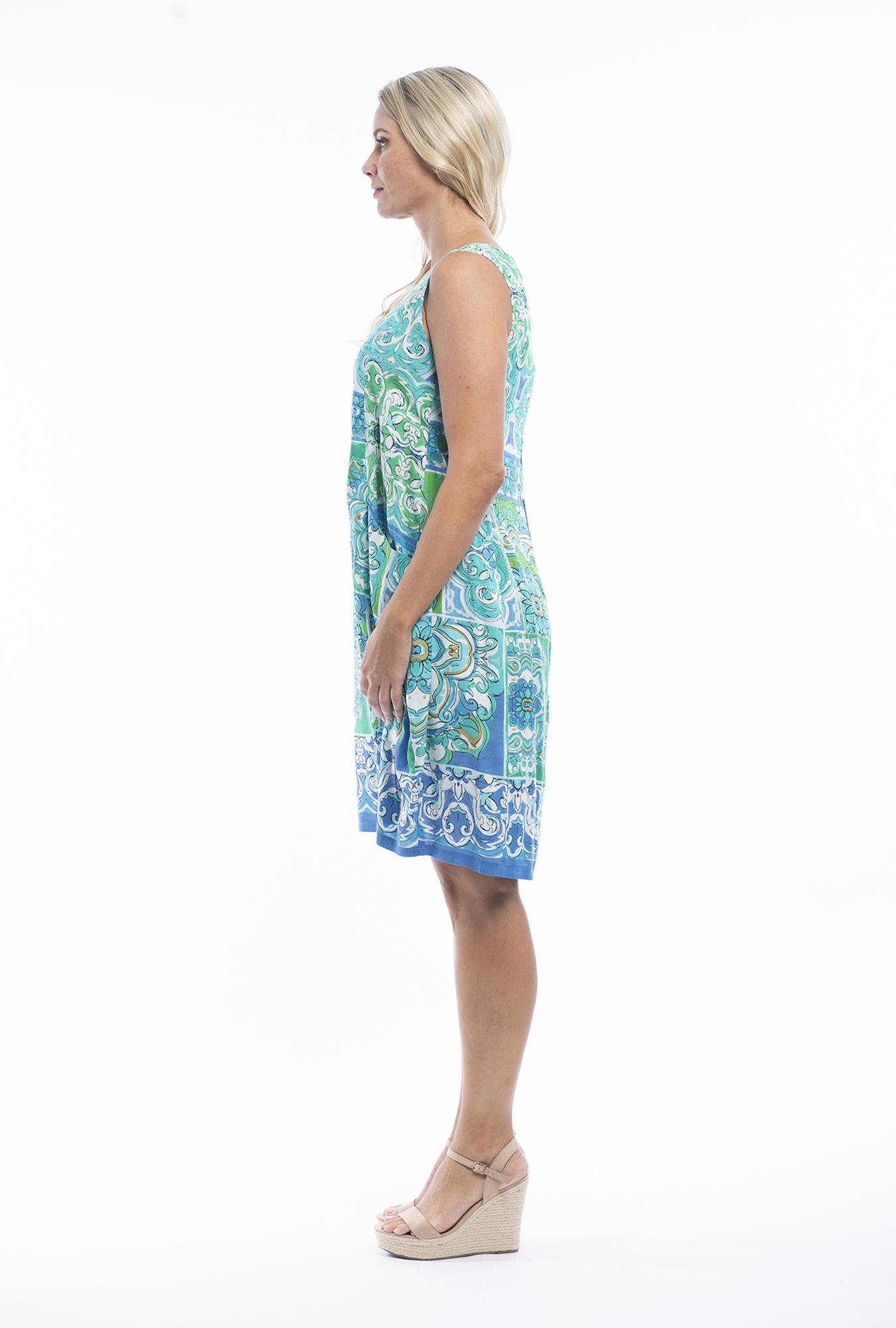 Orla Bubble Dress in Mauresque Green