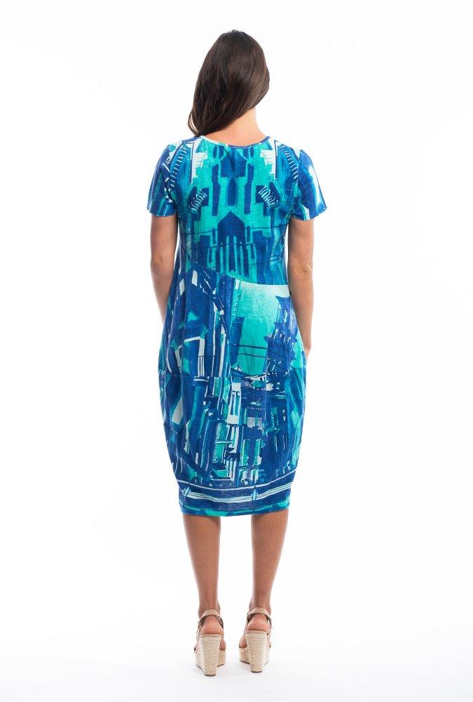Josie Dress in Sienna Blue