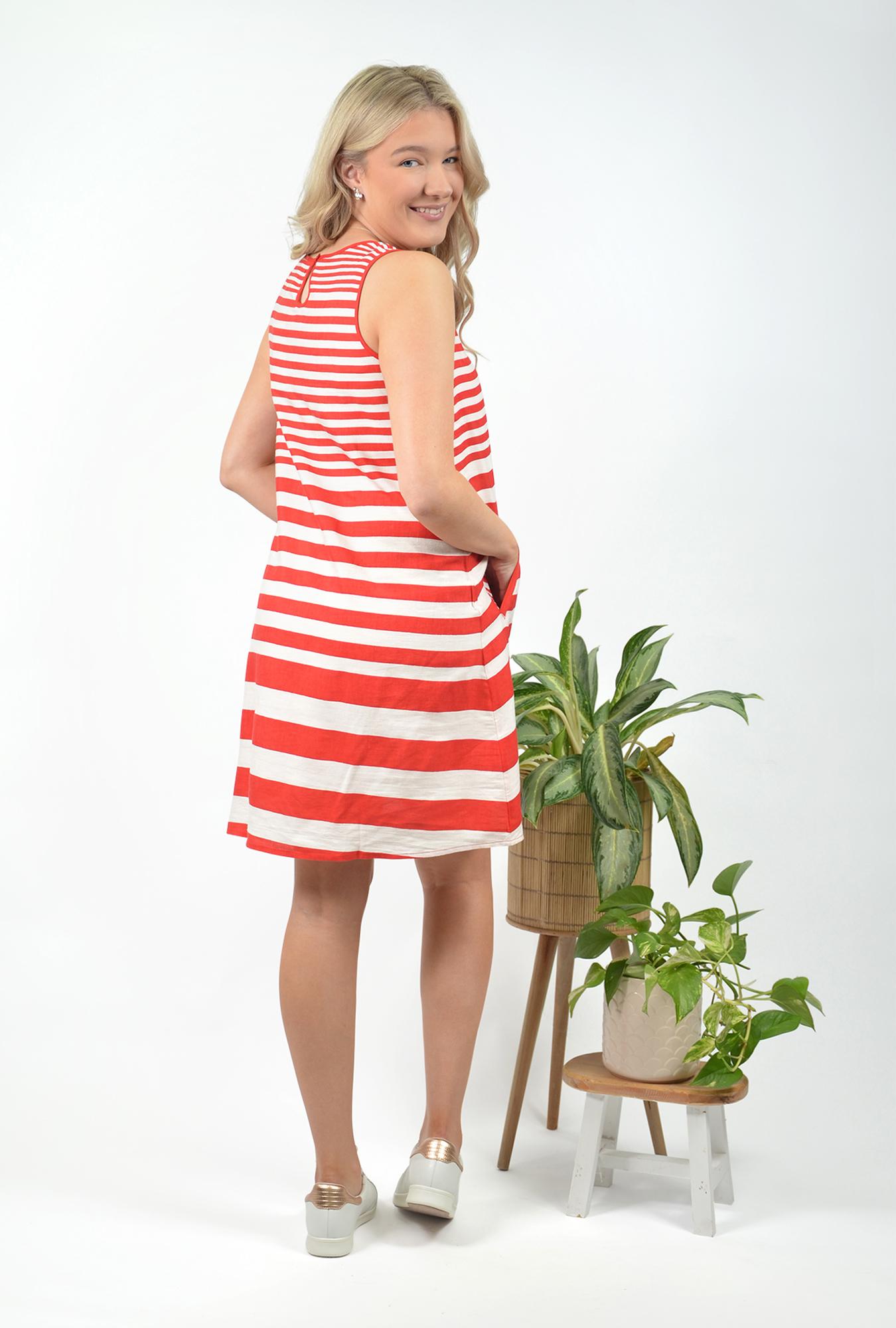 Sophia Dress in Red